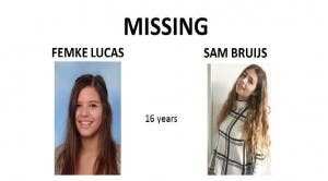 Missing Dutch teens Femke Lucas and Sam Bruijs