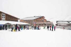 Skiers and snowboarders hit the Sierra Nevada slopes on the resort´s opening weekend