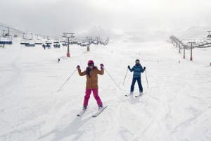 Skiers hit the Sierra Nevada slopes on the resort´s opening weekend