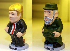 Caganers of Trump and Castro