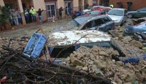 Cars crushed in Campo de Gibraltar