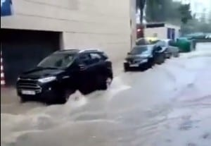 Flooding in Estepona port