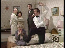 Manuel in a Fawlty Towers scene