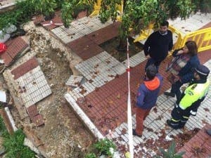 Floods wreck paths in Marbella