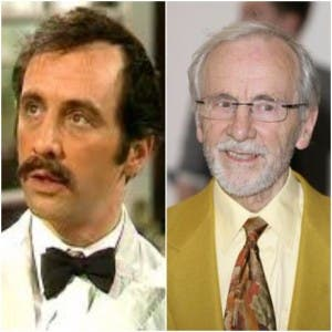 Manuel from Fawlty Towers and actor Andrew Sachs