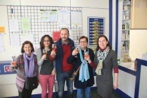 WINNER: Sabinillas shop ownter toasts El Gordo success