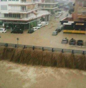 Flooding in Sabinillas