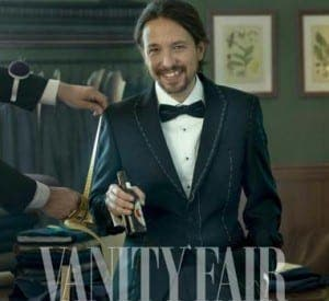 Pablo Iglesias, Podemos leader, in Vanity Fair