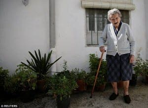 Maria Josefa Guillen, 103, courtesy of Reuters