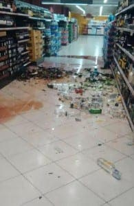 The aftermath inside the store