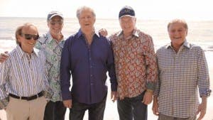 The Beach Boys' new album -- the first collaboration in decades between founding members Brian Wilson (third from left) and Mike Love (second from right) -- is called That's Why God Made the Radio.