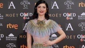 Actress Barbaria Lennie, wearing jewellry from Suarez Joyeria at the Goya Awards