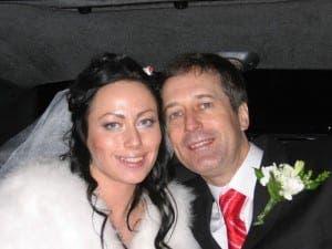 Ganna with slain husband Barry Pring