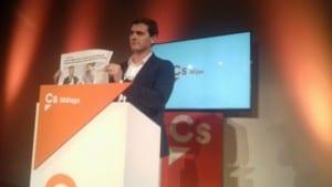 TAKING AIM: Rivera slams corruption in Spanish politics