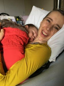 Colette Nolan with her son Zebedee