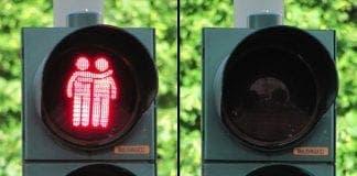 gay traffic lights e