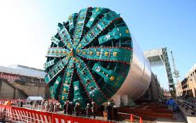BORING MACHINE: Bertha was instrumental in the tunnel's construction