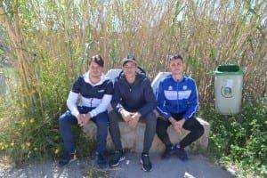 Ivan Rodriguez left with Antonio Hernandez and Andre Bogdan in Gochar