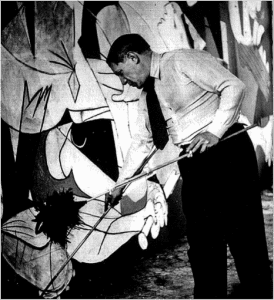 AT WORK: Picasso painting Guernica