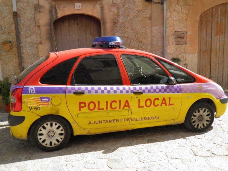 mallorca police car