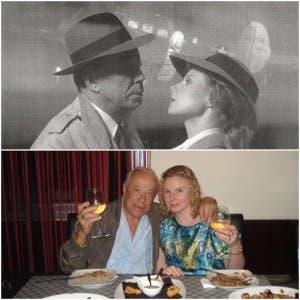 Lookalikes Kenny and Tuula Whymark and as Humphrey Bogart and Ingrid Bergman