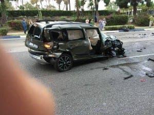 A car at the scene