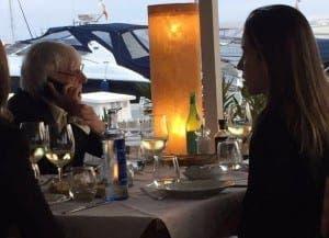 BALEARIC BERNIE: Ecclestone dines out in Ibiza