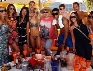 Hollyoaks cast enjoying drinks