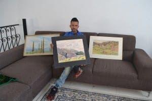 Jamal with Penelope's work
