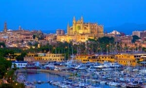 BUSTLING: Palma tourists flock in