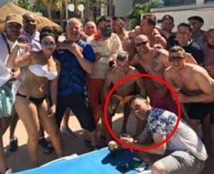 Adrian enjoying Mallorca with mates