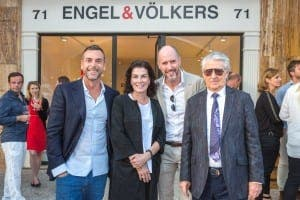 NEW DAWN: (LEFT TO RIGHT) Pedro Marin (junior), Hotel Playa Golf; Princess Bettina Wittgenstein, Head of Global Corporate Communication, Engel & Völkers AG; Terence Panton, Managing Partner Engel & Völkers Palma Beach; Pedro Marin (Senior) of Hotel Playa Golf