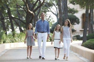 Royal family stroll through gardens