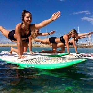 SURF'S UP: SUP yoga wins fans in Mallorca