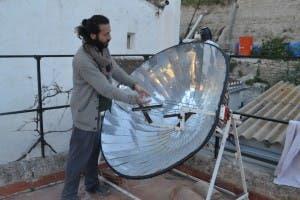 A solar bbq at Sunseed Desert Technologies