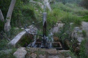 The main water pump in Los Molinos del Rio Aguas