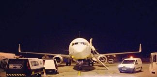 Palma airport night