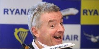 RYanair boss Michael O Leary smiling
