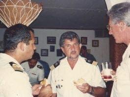 Capt Geary in Venezuelan CG uniform at the Officers Club CG Hea e