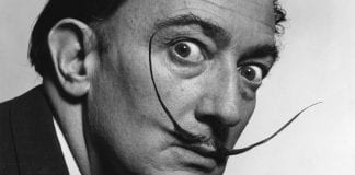 salvador dali moustache close up wallpaper p