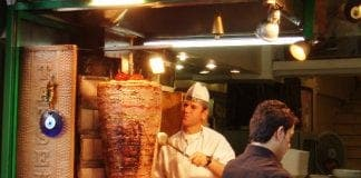Doner kebab Istanbul Turkey