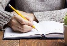 o WOMAN WRITING LETTER facebook e