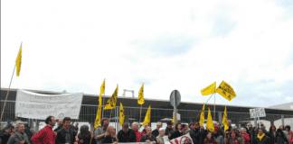 Sea cruise protest