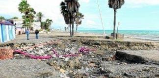 beach damage