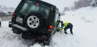 motorway snow