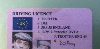 driving licence del boy
