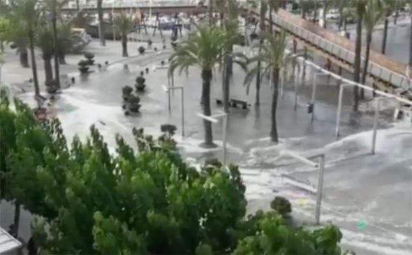 Majorca Menorca mini tsunami flood