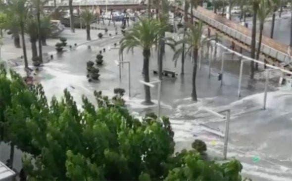 Majorca Menorca mini tsunami flood