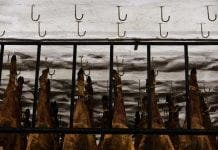 hooks the jamon is hung on to dry