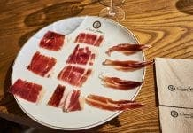 tasting plate of jamon